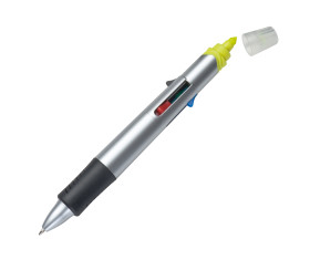 4-Farb-Kugelschreiber mit Textmarker