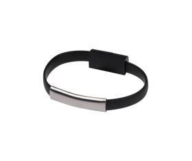 USB Armband aus Silikon mit 2in1 Stecker